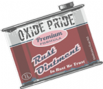 Oxide Pride Rust Ointment RETRO OIL CAN Funny Design For Rat Look VW Vinyl Car sticker decal 100x80mm